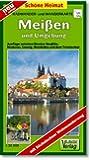 Radwander- und Wanderkarte Meißen und Umgebung: Radeln und Wandern zwischen Diesbar-Seußlitz, dem Triebischtal, Coswig, Weinböhla und Niederau. 1:20000