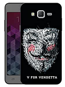 """Humor Gang V For Vendetta Scattered Mask Printed Designer Mobile Back Cover For """"Samsung Galaxy j3"""" (3D, Matte, Premium Quality Snap On Case)"""