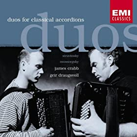 Russian music arr arranged for two accordions