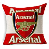 E-sunshinexAE Thick Cotton Blend Linen Square Throw Pillow Cover Decorative Cushion Case Pillow Case 18 X 18 Inches / 45 X 45 cm, New Football Club Badge (Arsenal)