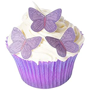 Butterfly Cake Decoration Uk : 42xSugar Free Cake Decorations - Purple Vivid Butterfly ...