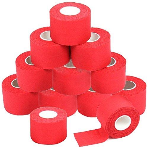 12 x Sport tape 3,8 cm x 10 cm Colore: rosso