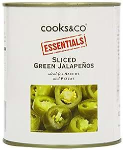 Cooks & Co Sliced Green Jalapenos 820 g (Pack of 12)