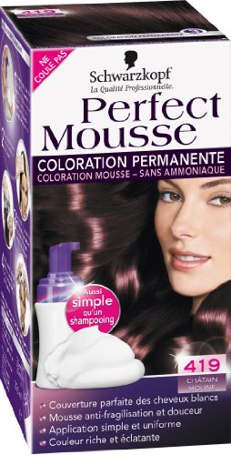 schwarzkopf perfect mousse coloration permanente chtain violine 419 - Prix Coloration Schwarzkopf