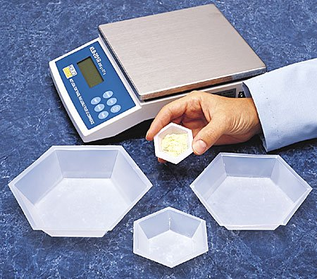 Plastic Hexagonal Weigh Boats Medium Dish 100pk