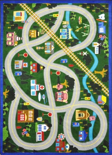 "Joy Carpets Kid Essentials Active Play & Juvenile My Community Helpers Rug, Multicolored, 10'9"" x 13'2"""