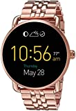 Fossil Q Wander tactile Rose Gold Tone Stainless Steel Smartwatch
