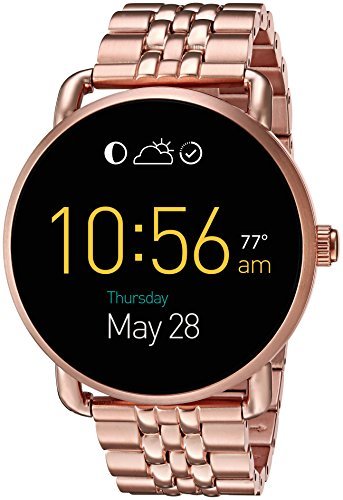 Fossil Q Wander Gen 2 Touchscreen Rose Gold Tone Stainless Steel Smartwatch
