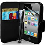 Apple iPhone 4 / 4S Black Wallet Case...