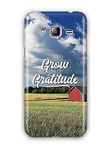 YuBingo Grow Gratitude Designer Mobile Case Back Cover for Samsung Galaxy J3 2016