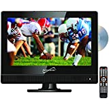 SuperSonic 13-Inch 1080p LED Widescreen HDTV HDMI with Built-in DVD Player, AC/DC