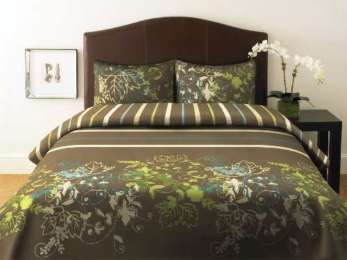 Perry Ellis, Sweet Bay Collection Duvet Set, Full/Queen