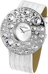 Jacques Lemans Flora 1-1733A 50mm Stainless Steel Case Calfskin Mineral Women's Watch