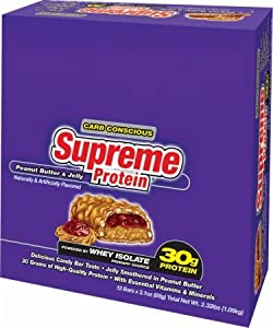 Supreme Protein Supreme Protein Carb Conscious Bars variety pack 12 bars 3 each: caramel nut choc., peanut butter crunch, cookies & cream & rocky road brownie