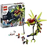 Lego Year 2013 Galaxy Squad Series Vehicle Set #70702 - WARP STINGER With Opening Cockpit Detachable Alien Gun...