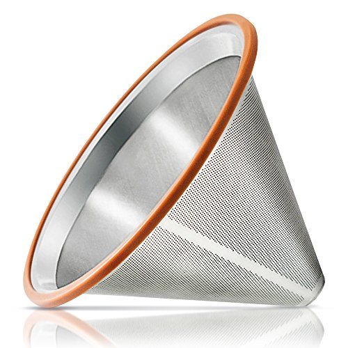 Pour Over Coffee Filter - Reusable Drip Coffee Filter for Chemex, Hario V60 and other Coffee Makers (Reusable Chemex Coffee Filter compare prices)
