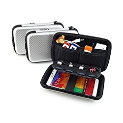 [USB Flash Drive Case / Hard Drive Case] - Lensfo Solid Silver Universial Portable Waterproof Shockproof Electronic Accessories Organizer Holder / USB Flash Drive Case Bag / Hard Drive Case Bag