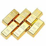 金の延べ棒 型 レプリカ ゴールド 金 塊 マグネット 磁石 6 個 セット (A)