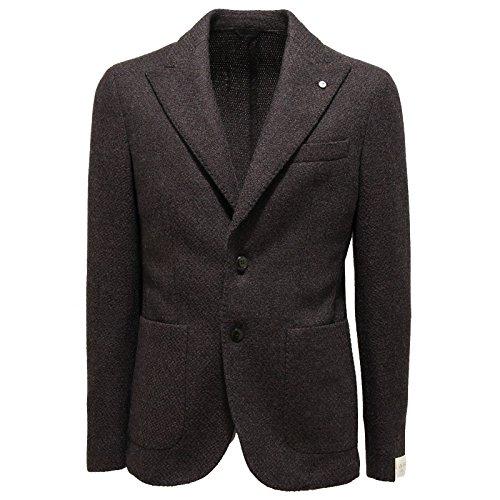 9923L giacca uomo grigia marrone L.B.M. 1911 giacche jackets coats men [46 R]