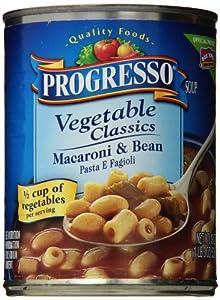 Progresso Vegetable Classics Macaroni & Bean Soup 19 oz (Pack of 12)