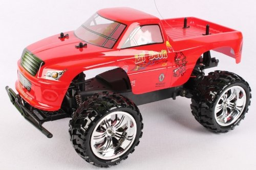 Radio Control LIL DEVIL 1:10 Scale 9.6v licensed monster truck complete kit with all batteries and charger FF+RTR