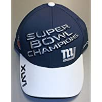 NFL New York Giants Super Bowl XLVI Champions Official Locker Room Hat, Charcoal Grey, One Size Fits All