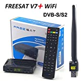 Do co-sport Satellite TV Receiver Freesat V7 HD 1080P DVB-S2 + USB Wfi Support full Powervu