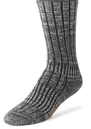 Wigwam Men\'s Merino/Silk Hiker Heavyweight Crew Socks, Charcoal, Small