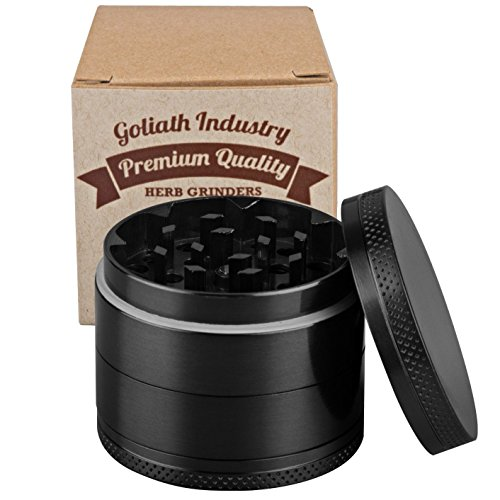 Goliath-Industry-1-Best-Herb-Spice-Tobacco-Leaves-Weed-Grinder-With-Pollen-Catcher-2-Made-Of-Durable-Titanium-4-Chambers-36-Sharp-Diamond-Shaped-Teeth