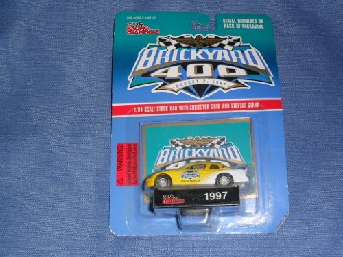 1997 NASCAR Racing Champions . . . Brickyard 400 1/64 Diecast . . . Includes Collector's Card and Display Stand . . . August 2, 1997 - 1