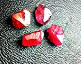 4 Top Quality Red Spinel Crystals. High Quality Gemstone Rough, Parcel For Wire Wrapping/ Jewelry.