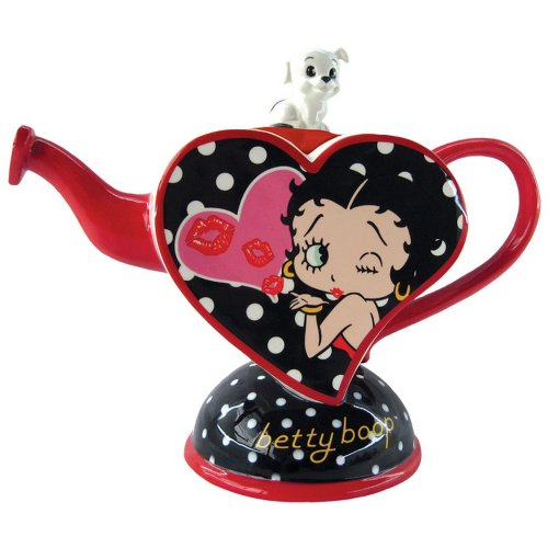 Westland Giftware Ceramic Teapot, Betty Boop Kisses From Betty, 8.5-Inch, 27-Ounce