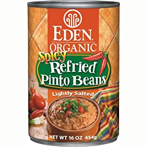 Eden Organic Refried Spicy Pinto Beans 16-ounce Cans Pack Of 12 from Eden