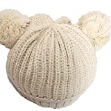 BuyHere Cute Unisex Baby Cap Knitting HatBeige