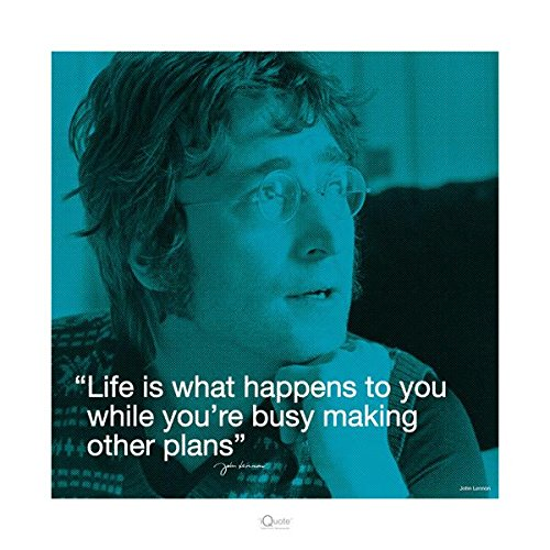 John Lennon Life Quote Beatles Motivational Poster 16 x 16 inches