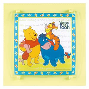 Winnie the Pooh ceiling light in glass (square)