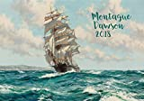 """Wall Calendar 2018 [12 pages 8""""x11""""] Ocean Marine Sailship Galleon by Montague Dawson Vintage Poster"""