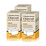 6 Filters Generic Charcoal Filters Replacement in Retail Box Fit Cuisinart Coffee Machines
