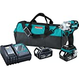 Makita XWT02M LXT Lithium Ion Brushless Cordless 3 Speed Impact Wrench Kit, 1/2-Inch