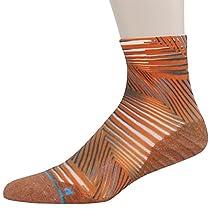 HUSO Men's Fashionable Athletics Sportsman Quick Wicking Breathable Soft Crew Running Socks
