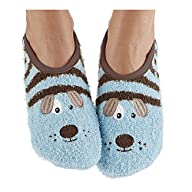 Snoozies Womens Animal Mary Jane Socks
