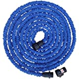 Expandable Hose - 50FT - The Blue Expanding Pocket Hose Expands up to Three Times of its Length - Water Will Sprinkle Your Garden with a High Volume Spray - Light Weight and Compact - Never Kinks or Tangles