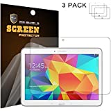 Mr Shield Samsung Galaxy Tab 4 10.1 10inch Anti-glare Screen Protector [3-PACK] with Lifetime Replacement Warranty