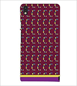 PrintDhaba C Pattern D-1828 Back Case Cover for HUAWEI ASCEND P6 (Multi-Coloured)