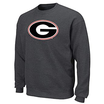Georgia Bulldogs Tek Patch Long Sleeve Fleece Pullover From Section 101 by Majes by Section 101