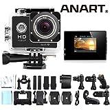 ANART® SPC-01 W8 WiFi 12MP 170 Degree 1080P Digital Waterproof Helmet Sports Action Car Camera Black