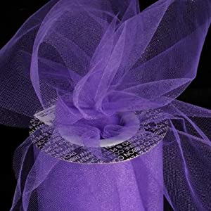 "Designer Purple Violet Tulle Craft Ribbon 6"" x 275 Yards"