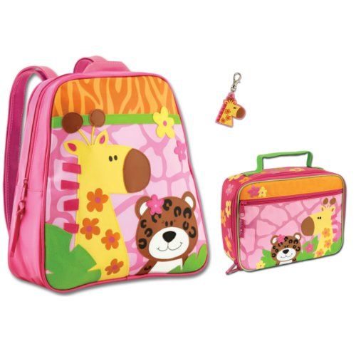 Stephen Joseph Girl'S Zoo Animal Backpack And Lunch Box Combo With Zipper Pull - Girls Backpacks front-106946