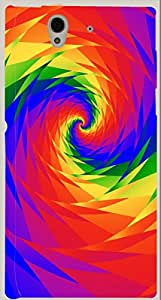 Wonderful multicolor printed protective REBEL mobile back cover for Blackberry Z10 D.No.N-R-2557-BBZ10