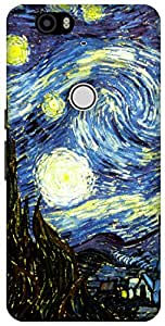 The Racoon Lean The Starry Night hard plastic printed back case / cover for Huawei Nexus 6P